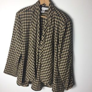 Coldwater Creek Black L Open Front Swing Cardigan